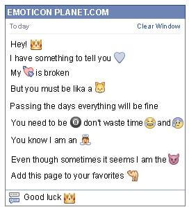 Conversation with emoticon Crown for Facebook