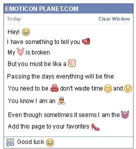 Conversation with emoticon Crying with Happiness for Facebook