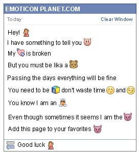 Conversation with emoticon Dancing for Facebook