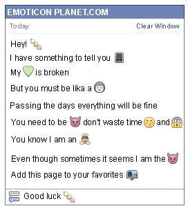 Conversation with emoticon Dango for Facebook