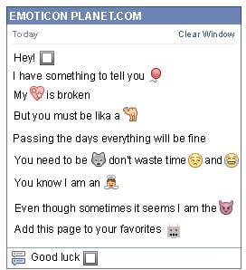 Conversation with emoticon Dark Window for Facebook
