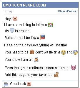 Conversation with emoticon Devil for Facebook