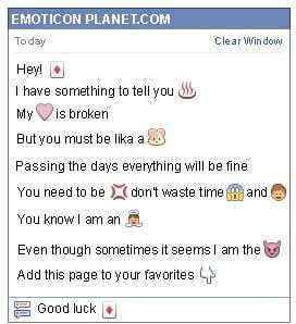 Conversation with emoticon Diamond Card for Facebook