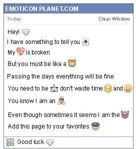 Conversation with emoticon Diamond for Facebook