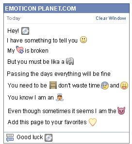 Conversation with emoticon Disc for Facebook