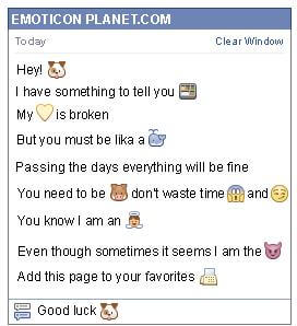 Conversation with emoticon Dog for Facebook