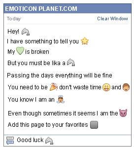 Conversation with emoticon Dolphin for Facebook