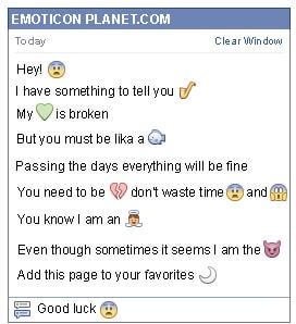 Conversation with emoticon Doubt for Facebook