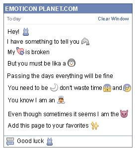 Conversation with emoticon Dress for Facebook