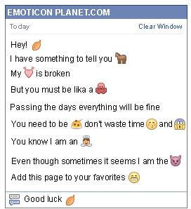 Conversation with emoticon Dry Leaf for Facebook