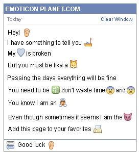 Conversation with emoticon Ear for Facebook