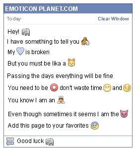 Conversation with emoticon Elephant for Facebook