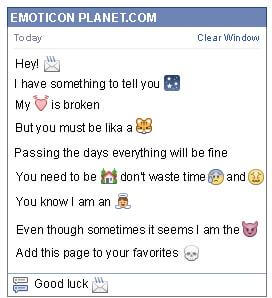 Conversation with emoticon Email Sent for Facebook