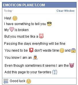 Conversation with emoticon Embarrassment for Facebook