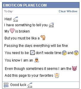 Conversation with emoticon Express Train for Facebook