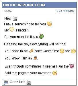 Conversation with emoticon Factory for Facebook