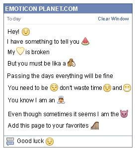 Conversation with emoticon Falling Asleep for Facebook