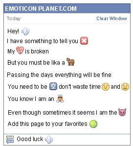 Conversation with emoticon Fart for Facebook