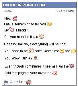 Conversation with emoticon Firefighters Truck for Facebook