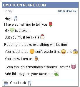 Conversation with emoticon Fist Up for Facebook