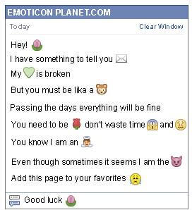 How to make Flower Emoticon on Facebook
