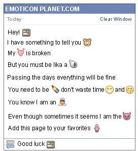 Conversation with emoticon Food Tray for Facebook