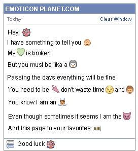 Conversation with emoticon Fortune Teller for Facebook