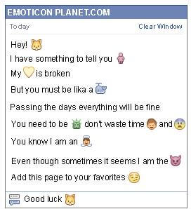 Conversation with emoticon Fox for Facebook