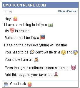 Conversation with emoticon French Fries for Facebook
