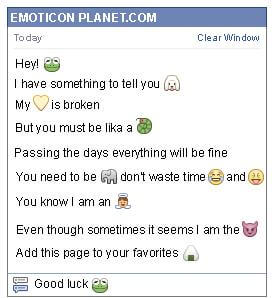 Conversation with emoticon Frog for Facebook