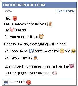 Conversation with emoticon Furious for Facebook