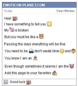 Conversation with emoticon Gas Station for Facebook