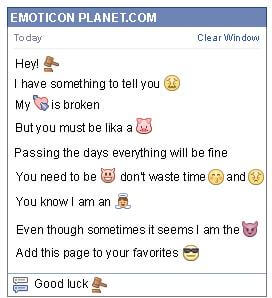 Conversation with emoticon Gavel for Facebook