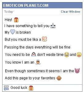 Conversation with emoticon Gift Box for Facebook