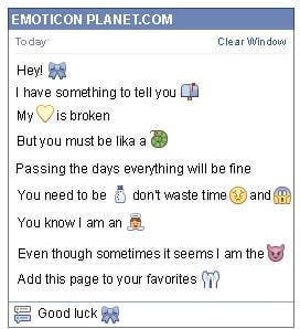 Conversation with emoticon Gift Ribbon for Facebook