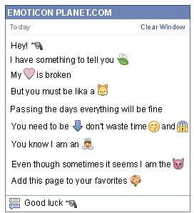 Conversation with emoticon Handgun for Facebook
