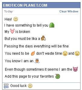 Conversation with emoticon Happy Face for Facebook
