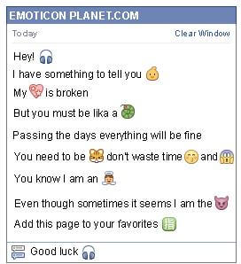Conversation with emoticon Headphones for Facebook