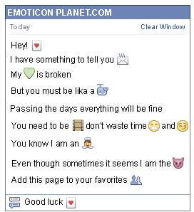Conversation with emoticon Heart Card for Facebook