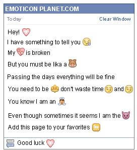 Conversation with emoticon Heart Gift for Facebook