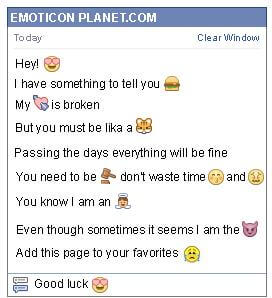Conversation with emoticon Hearted Eyes for Facebook