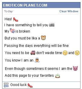 Conversation with emoticon High Heels for Facebook