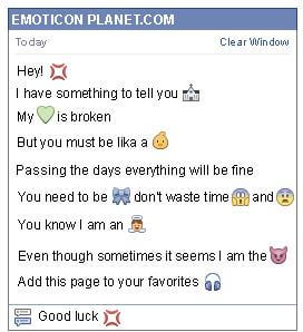 Conversation with emoticon Hit for Facebook