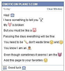 Conversation with emoticon Home Phone for Facebook