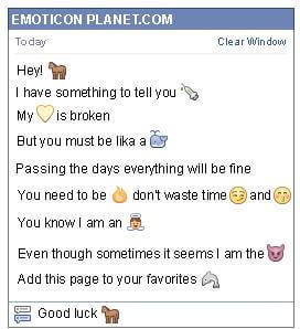 Conversation with emoticon Horse for Facebook