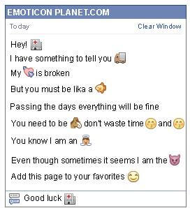 Conversation with emoticon Hospital for Facebook