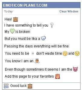 Conversation with emoticon Hotel for Facebook