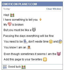 Conversation with emoticon House with Plants for Facebook