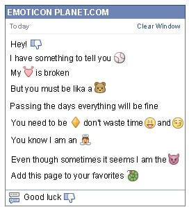 Conversation with emoticon I Dont Like It for Facebook