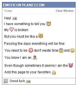 Conversation with emoticon Id for Facebook